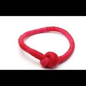 Tzruri Paris Pink Silicone Knot Necklace